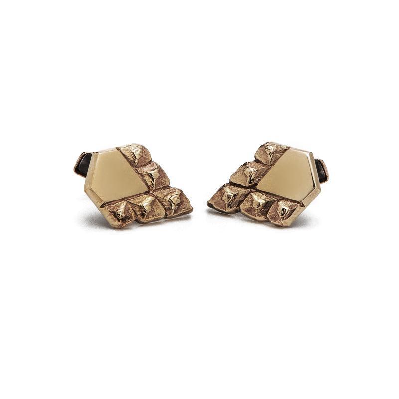 men's sustainable jewellery artisan made cufflinks bronze