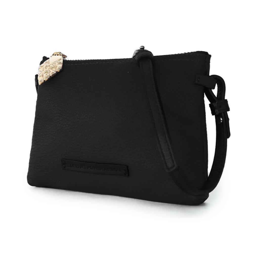sustainable luxury small crossbody black