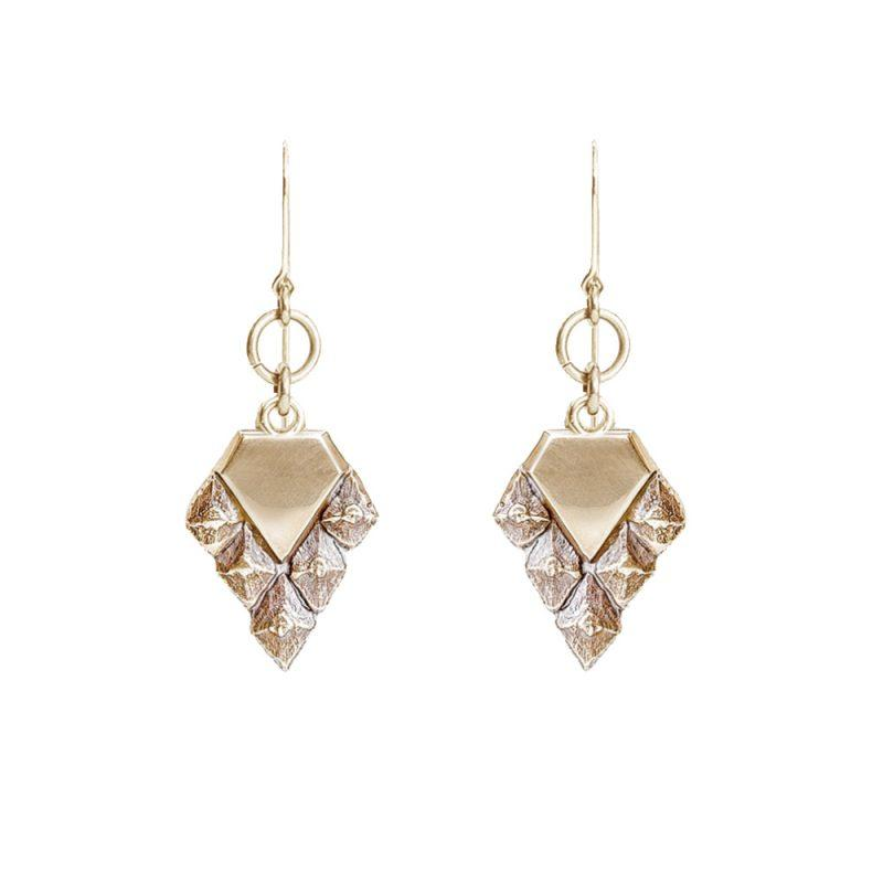 sustainable luxury hanging hook earrings rose gold