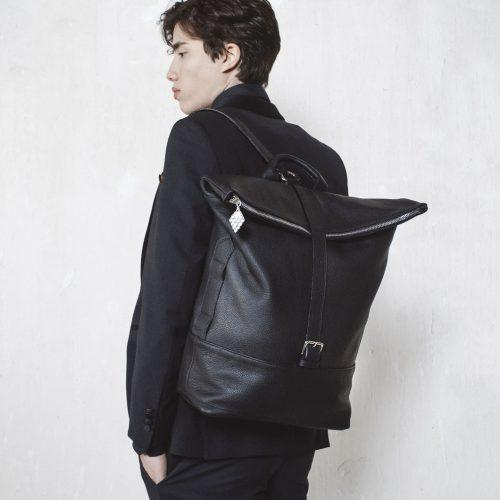 men's sustainable leather backpack
