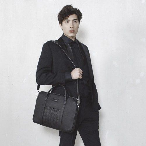 Men's sustainable luxury nordic minimal briefcase