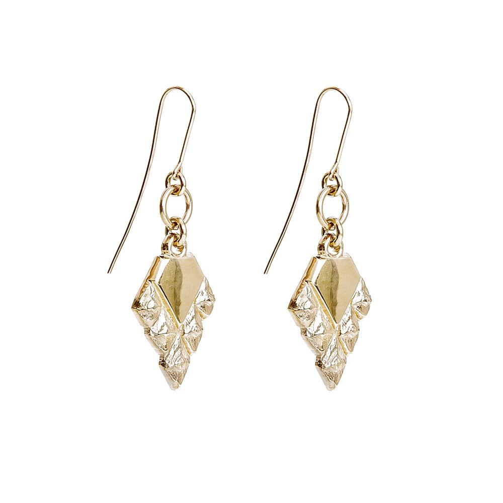 Sustainable jewellery hook earrings gold