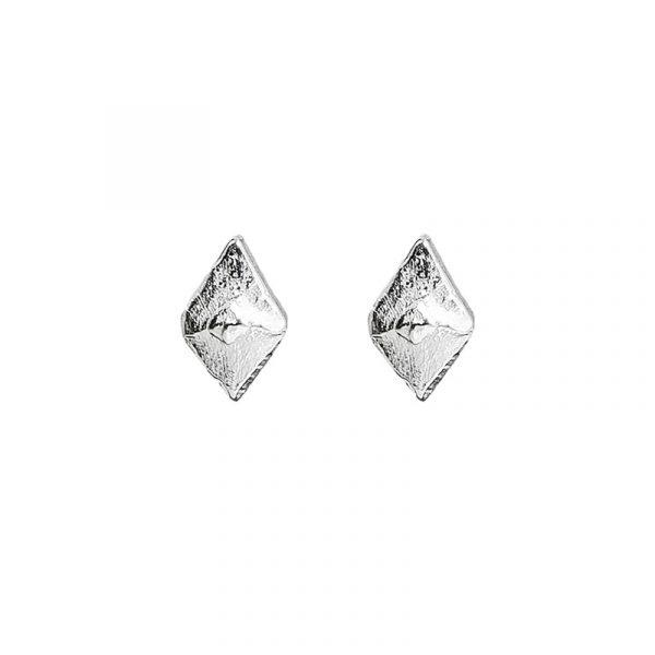 Sustainable jewellery small silver earrings
