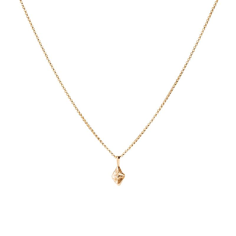 small sustainable luxury necklace rose gold