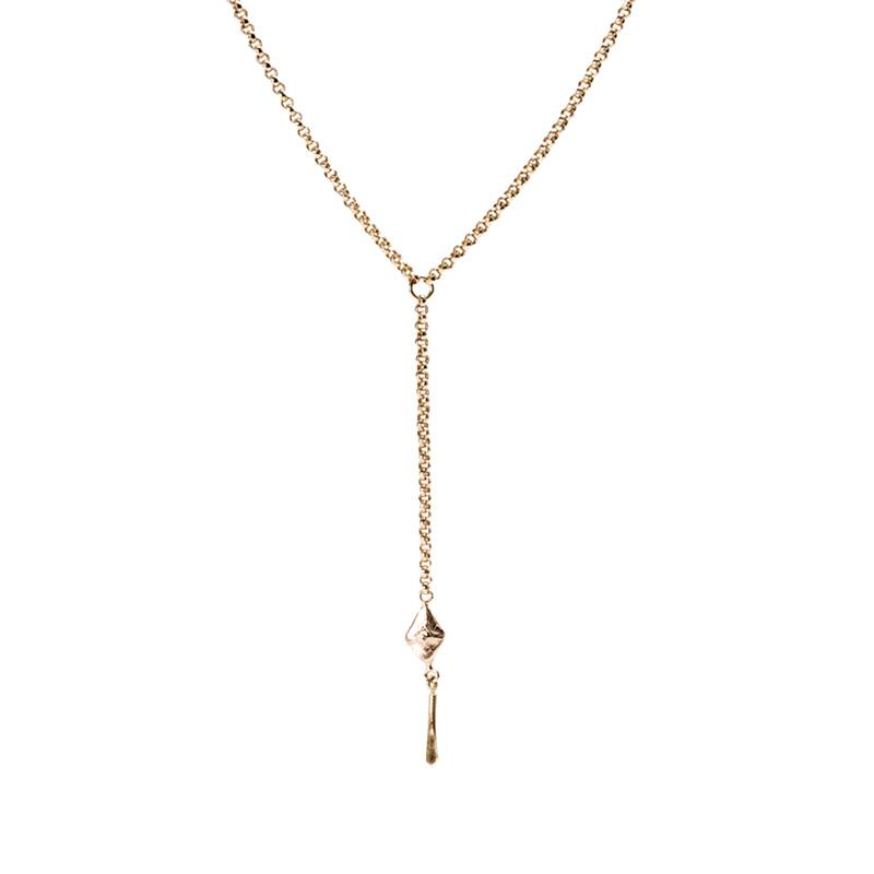 small sustainable luxury string necklace rose gold