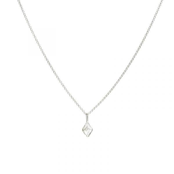 small sustainable luxury necklace silver