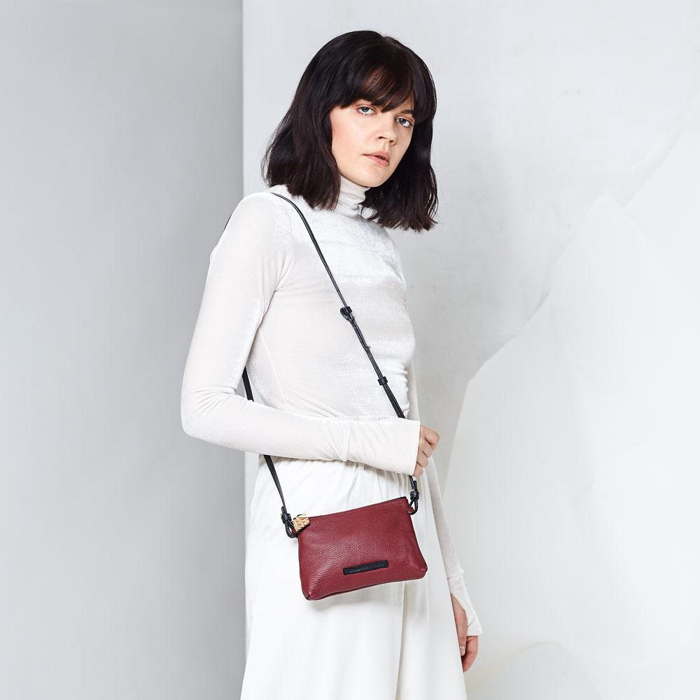 ethical luxury wine mini crossbody