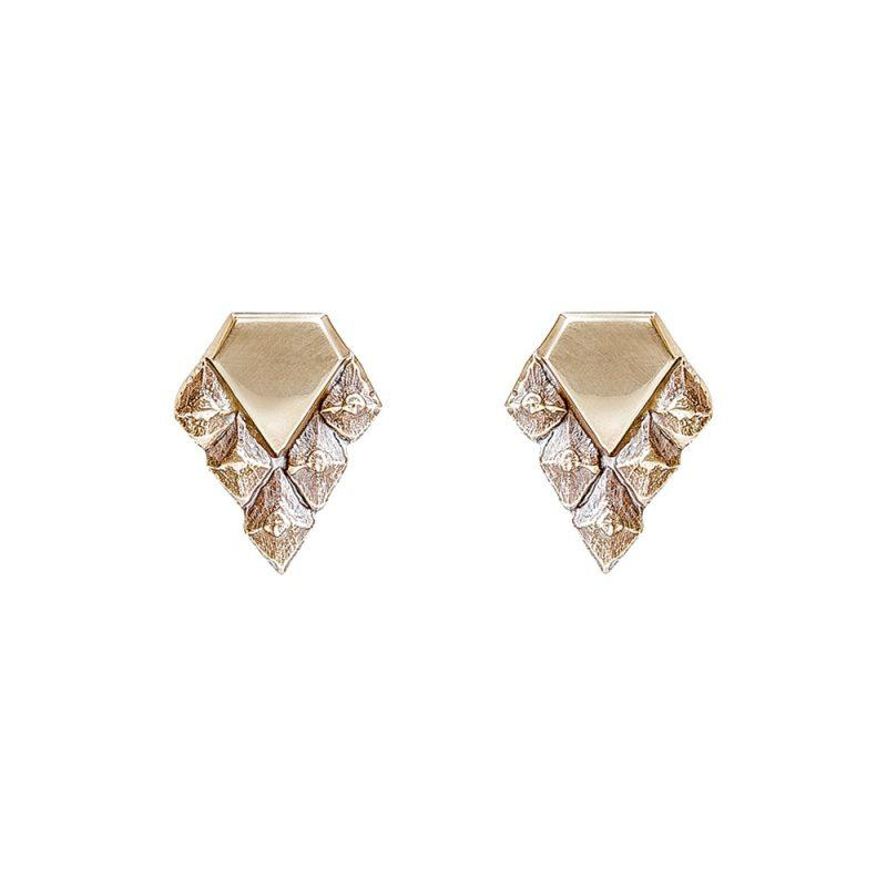 Sustainable design earrings rose gold