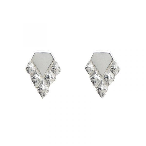 Sustainable design earrings silver