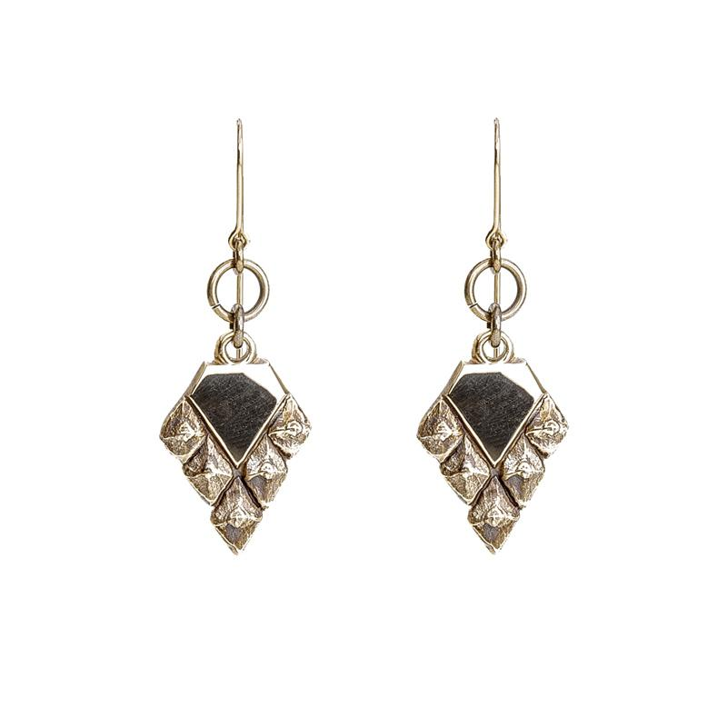 Sustainable jewellery hook earrings bronze