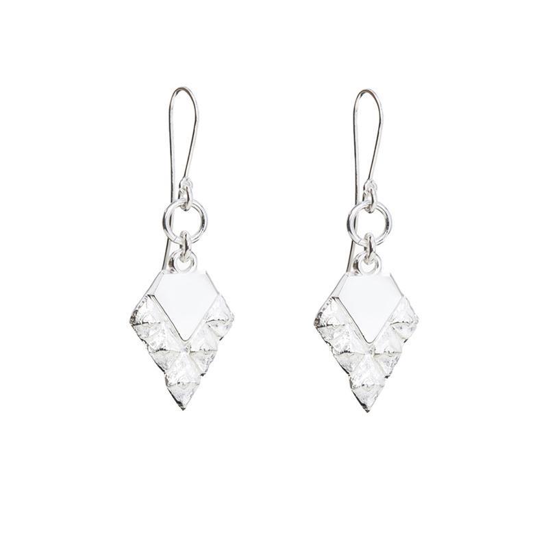 Sustainable jewellery hook earrings silver