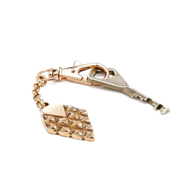 sustainable accessories keyring rosegold