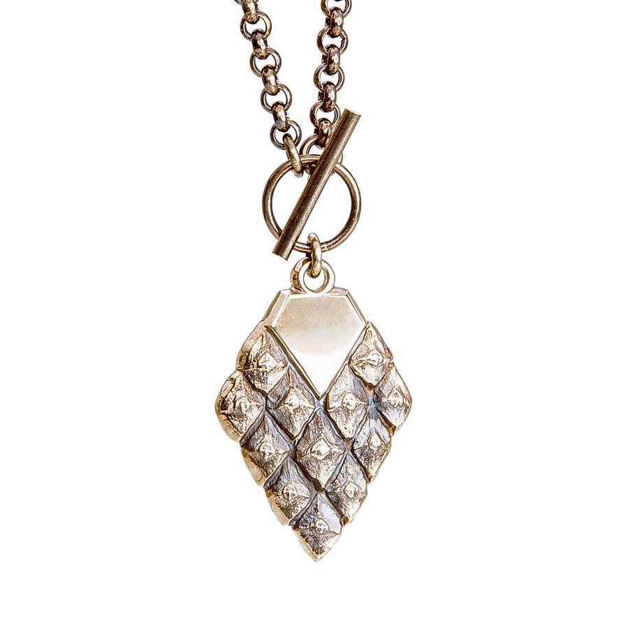 Sustainable jewellery statement necklace bronze
