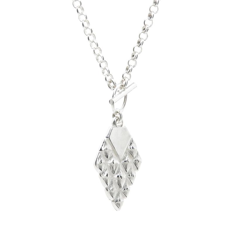 Sustainable jewellery statement necklace silver