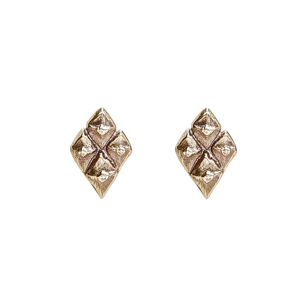 Sustainable jewellery small bronze earrings
