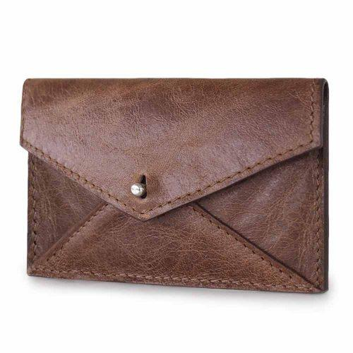 sustainable excess leather card holder
