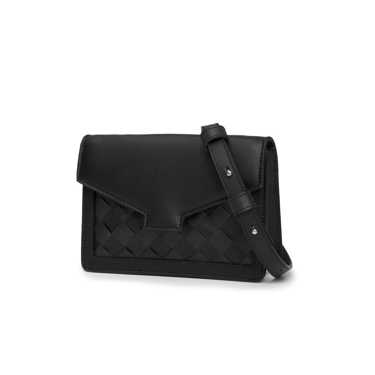 sustainable ethical minimalistic belt bag black